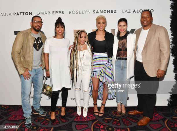 Laz Alonso Roxanne Avent Tameka Tiny Harris Paula Patton Roselyn Sanchez and Deon Taylor attend Traffik Atlanta VIP Screening at Regal Atlantic...