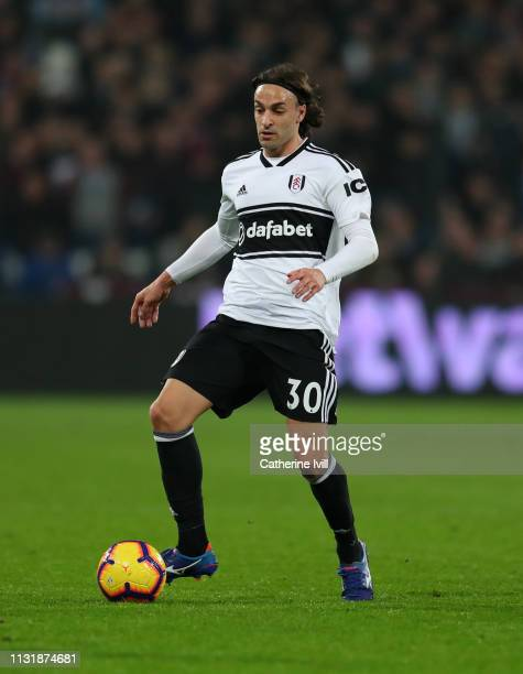 Lazar Markovic of Fulham during the Premier League match between West Ham United and Fulham FC at London Stadium on February 22 2019 in London United...