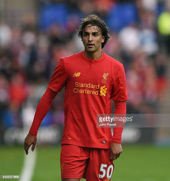 Lazar Markovic of Liverpool during a PreSeason Friendly match between Tranmere Rovers and Liverpool at Prenton Park on July 8 2016 in Birkenhead...