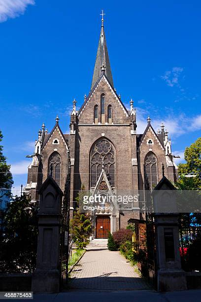 lazaristen kirche, vienna. - kirche stock pictures, royalty-free photos & images