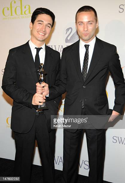Lazaro Hernandez and Jack McCollough of Proenza Schouler attends the 2009 CFDA Fashion Awards at Alice Tully Hall, Lincoln Center on June 15, 2009 in...