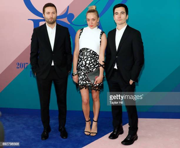Lazaro Hernandez Chloe Sevigny and Jack McCullough attend the 2017 CFDA Fashion Awards at Hammerstein Ballroom on June 5 2017 in New York City