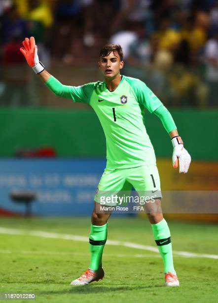 Lazaro of Brazil during the FIFA U-17 World Cup Quarter Final match between Italy and Brazil at the Estádio Olímpico Goiania on November 11, 2019 in...