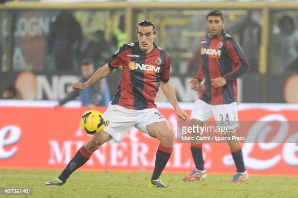 Lazaros of Bologna FC in action during the Serie A match between Bologna FC and SS Lazio at Stadio Renato Dall'Ara on January 11 2014 in Bologna Italy
