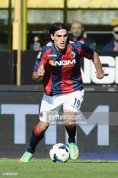 Lazaros of Bologna FC in action during the Serie A match between Bologna FC and US Sassuolo Calcio at Stadio Renato Dall'Ara on March 9 2014 in...