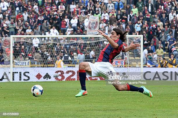Lazaros of Bologna FC in action during the Serie A match between Bologna FC and Parma FC at Stadio Renato Dall'Ara on April 13 2014 in Bologna Italy