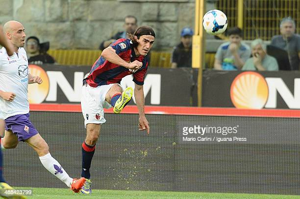 Lazaros of Bologna FC in action during the Serie A match between Bologna FC and ACF Fiorentina at Stadio Renato Dall'Ara on April 26 2014 in Bologna...