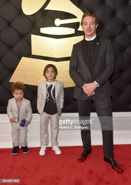 Lazer Pentz Lockett Pentz and Father/Musician/Producer Diplo attend The 59th GRAMMY Awards at STAPLES Center on February 12 2017 in Los Angeles...