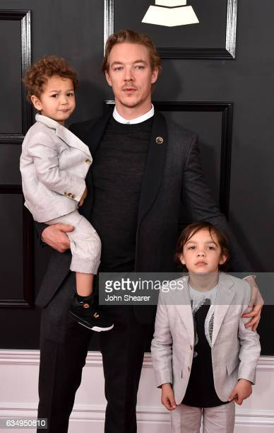 Lazer Pentz recording artist Diplo and Lockett Pentz attend The 59th GRAMMY Awards at STAPLES Center on February 12 2017 in Los Angeles California