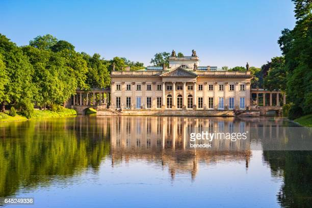 Lazienki Palace in Warsaw's Royal Baths Park Poland