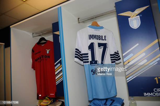 Lazio dressing room before the serie A match between SS Lazio and SSC Napoli at Stadio Olimpico on August 18 2018 in Rome Italy