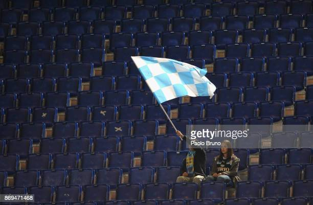 Lazio fans before the UEFA Europa League group K match between SS Lazio and OGC Nice at Stadio Olimpico on November 2 2017 in Rome Italy