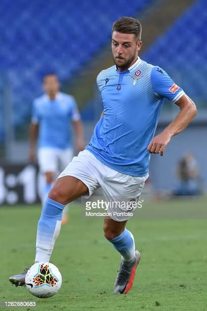 Lazio football player Sergej Milinkovic Savic during the match Lazio-Brescia in the Olimpic stadium. Rome , July 29th, 2020
