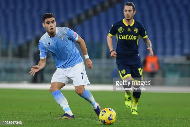 Lazio footballer Andreas Pereira during the match Lazio-Parma in the olimpic stadium. Rome , January 21st, 2021