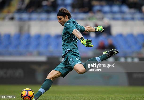 Lazio goalkeeper Federico Marchetti in action during the Serie A match between SS Lazio and Atalanta BC at Stadio Olimpico on January 15 2017 in Rome...
