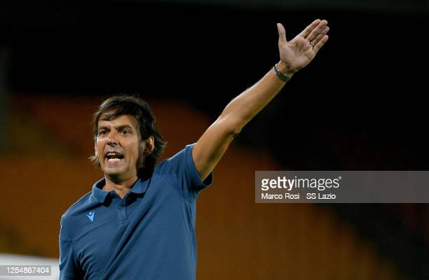 Lazio head coach 2 reacts during the Serie A match between US Lecce and SS Lazio at Stadio Via del Mare on July 07 2020 in Lecce Italy