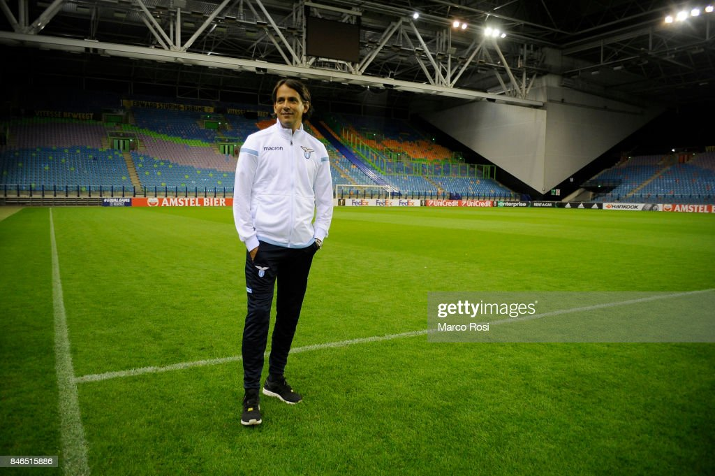 SS Lazio head coach Simone Inzagh during the SS Lazio Pitch Walk Around on September 13, 2017 in Arnhem, Netherlands.