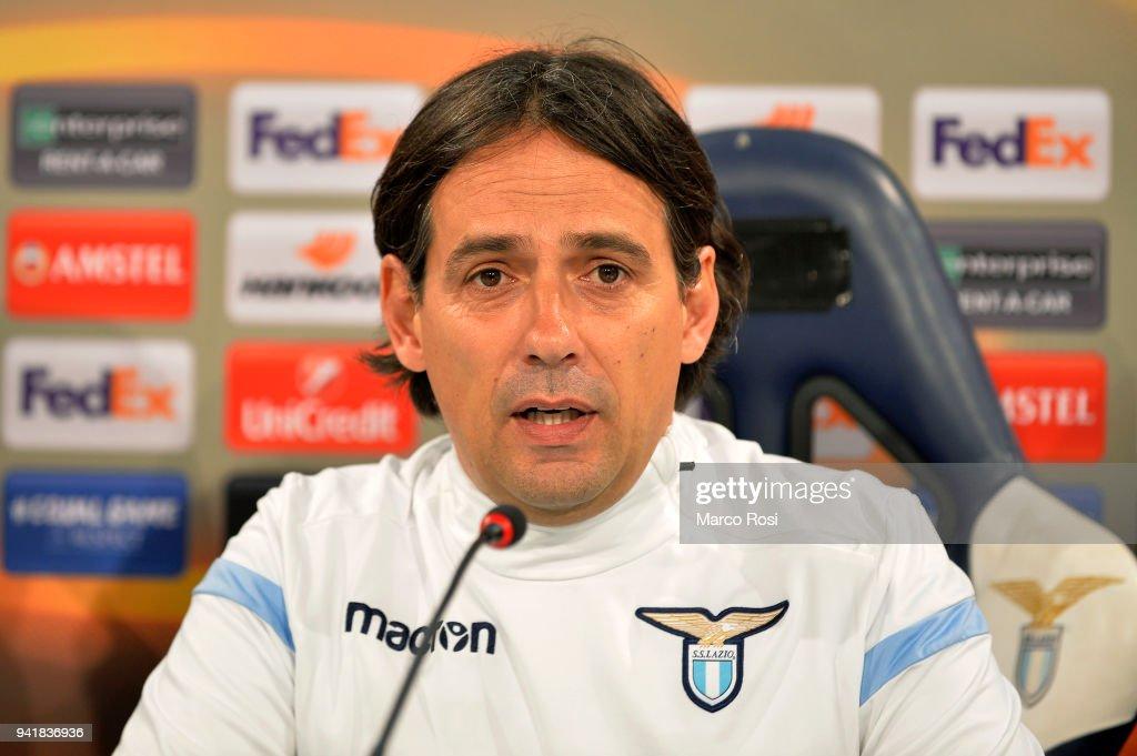 SS Lazio head coach Simone Inzaghi diring the SS Lazio press conference on April 4, 2018 in Rome, Italy.