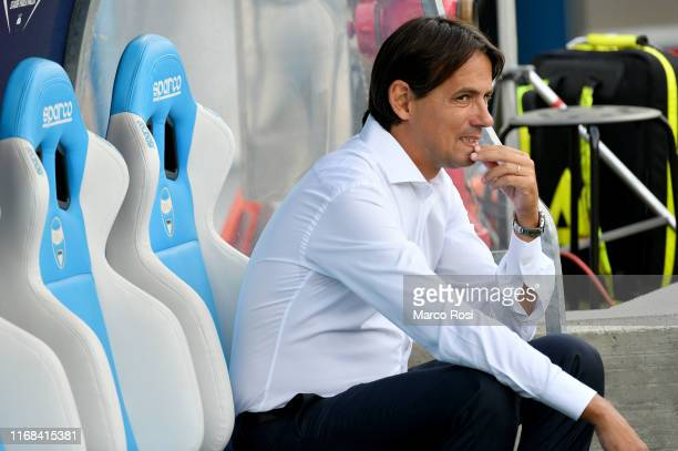 Lazio head coach Simone Inzaghi during the Serie A match between SPAL and SS Lazio at Stadio Paolo Mazza on September 15 2019 in Ferrara Italy