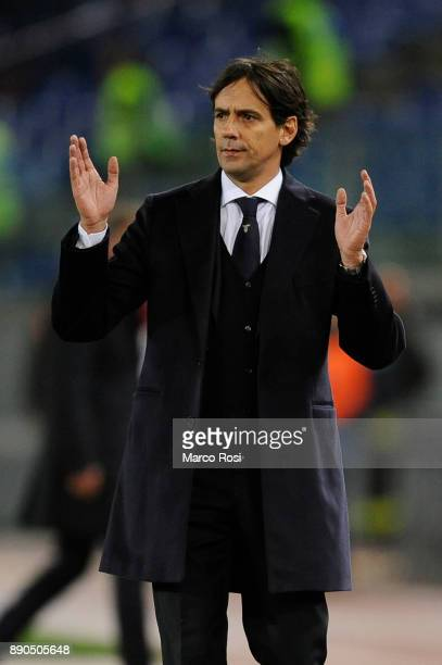 Lazio head coach Simone Inzaghi during the Serie A match between SS Lazio and Torino FC at Stadio Olimpico on December 11 2017 in Rome Italy