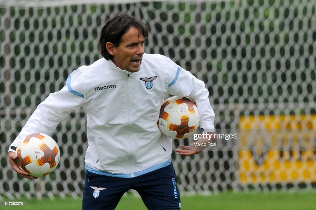 SS Lazio head coach Simone Inzaghi during the SS Lazio Training Session on September 15, 2017 in Arnhem, Netherlands.