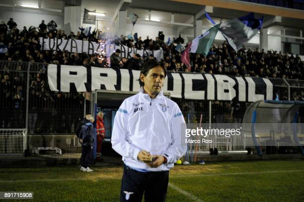Lazio head coach Simone Inzaghi during the SS Lazio training session on December 13 2017 in Rome Italy