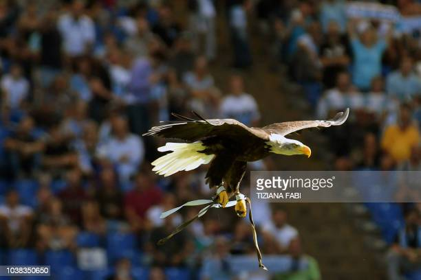Lazio head coach Simone Inzaghi reacts during the serie A match between SS Lazio and Genoa CFC at Stadio Olimpico on September 23 2018 in Rome Italy