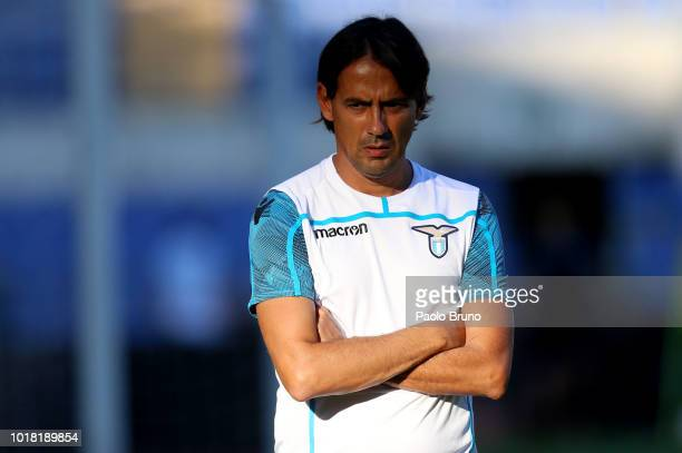A general view during the SS Lazio training session at Olimpico Stadium on August 17 2018 in Rome Italy