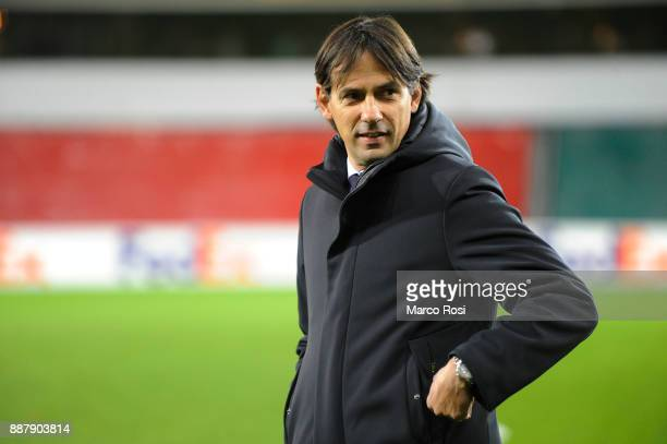 SS lazio hrad coach Simone Inzaghi before the UEFA Europa League group K match between SV Zulte Waregem and SS Lazio at Regenboogstadion on December...