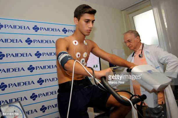 Lazio new signing Bruno Jordao during the SS Lazio medical tests on August 31 2017 in Rome Italy