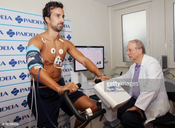 Lazio new signing Davide Di Gennaro attends medical tests on July 20 2017 in Rome Italy
