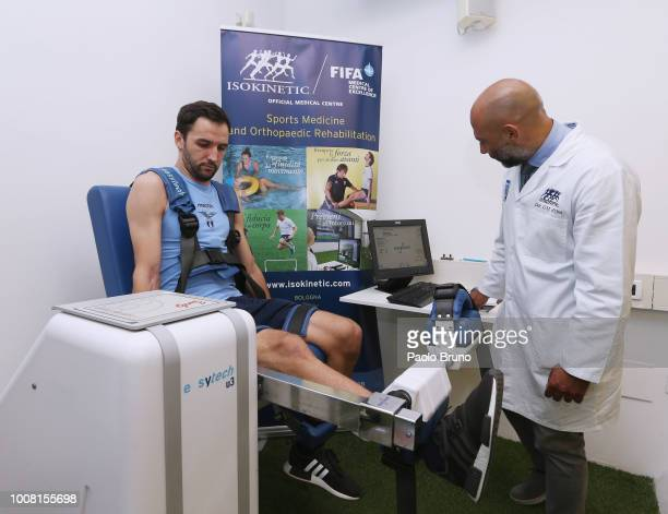 Lazio new signing Milan Badelj attends SS Lazio medical tests on July 31 2018 in Rome Italy