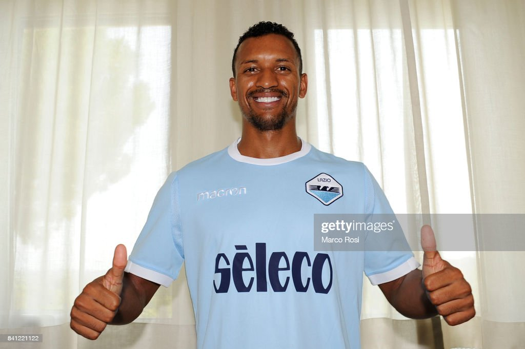 SS Lazio new signing Nani after the SS Lazio medical tests on August 31, 2017 in Rome, Italy.