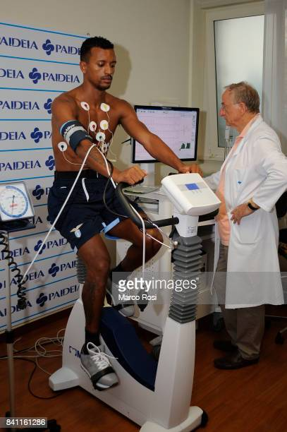 Lazio new signing Nani during the SS Lazio medical tests on August 31 2017 in Rome Italy