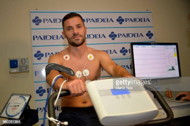 Lazio New signing Riza Durmisi during the medical tests on June 21 2018 in Rome Italy
