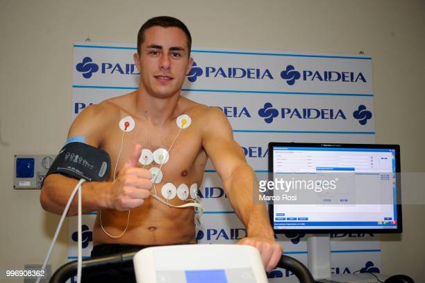 Lazio player Adam Marusic the SS Lazio Medical Tests on July 12 2018 in Rome Italy