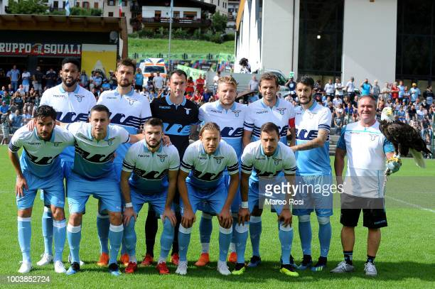 Pedro Neto of SS Lazio in action SS Lazio v Cadore Top 11 preseason friendly match on July 22 2018 in Auronzo di Cadore near Belluno Italy