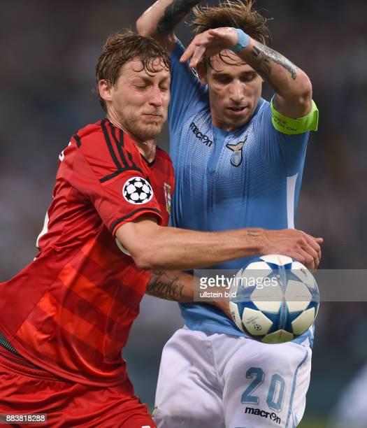 FUSSBALL CHAMPIONS Lazio Rom Bayer 04 Leverkusen Stefan Kiessling gegen Lucas Biglia