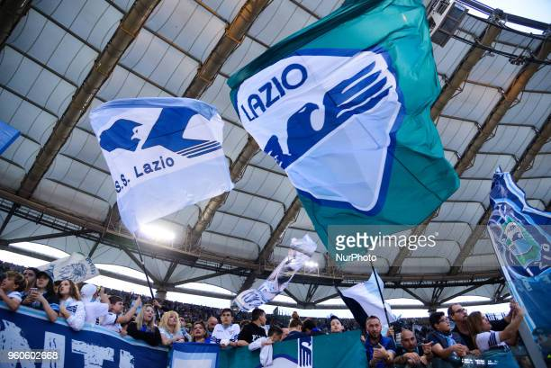 Lazio supporters before the Italian Serie A football match between SS Lazio and FC Inter at the Olympic Stadium in Rome on may 20 2018