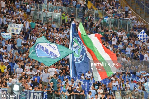 SS Lazio supporters Curva Nord during the Italian Serie A football match SS Lazio vs Spal at the Olympic Stadium in Rome august on 20 2017