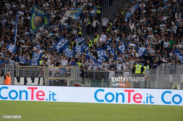 Lazio supporters during the Italian Serie A football match between SS Lazio and Frosinone at the Olympic Stadium in Rome on september 02 2018