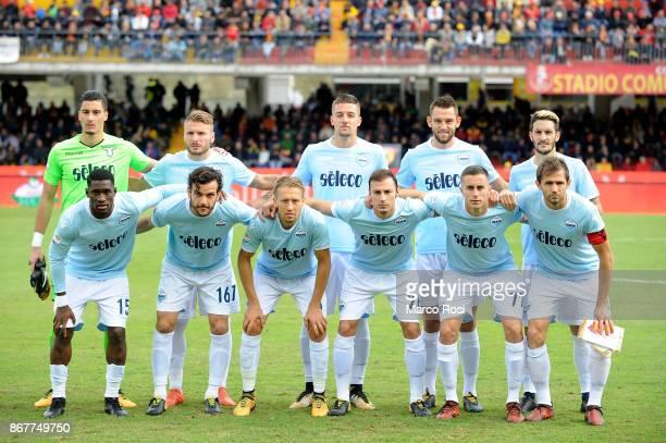 Lazio team pose a photo before the Serie A match between Benevento Calcio and SS Lazio at Stadio Ciro Vigorito on October 29, 2017 in Benevento,...