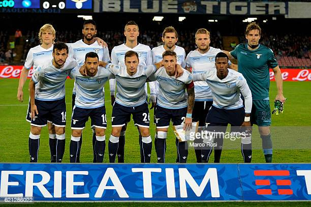 Lazio team pose a photo team before the Serie A match between SSC Napoli and SS Lazio at Stadio San Paolo on November 5 2016 in Naples Italy
