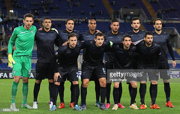 SS lazio team poses during the UEFA Europa League group G match between SS Lazio and FC Dnipro Dnipropetrovsk at Olimpico Stadium on November 26 2015...