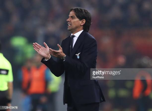 Serie A Simone Inzaghi trainer of Lazio at Olimpico Stadium in Rome Italy on March 2 2019