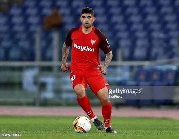 UEFA Europa League Round of 32 Ever Banega of Sevilla at Olimpico Stadium in Rome Italy on February 14 2019