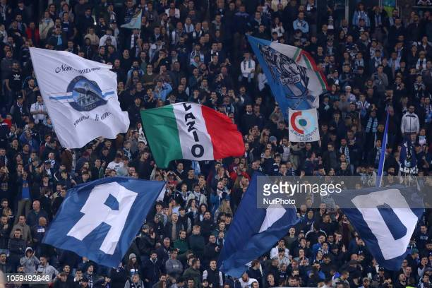 UEFA Europa League Group H Lazio ultras of Curva Nord at Olimpico Stadium in Rome Italy on November 8 2018