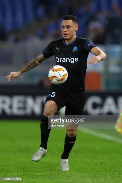 UEFA Europa League Group H Lucas Ocampos of Marseille at Olimpico Stadium in Rome Italy on November 8 2018