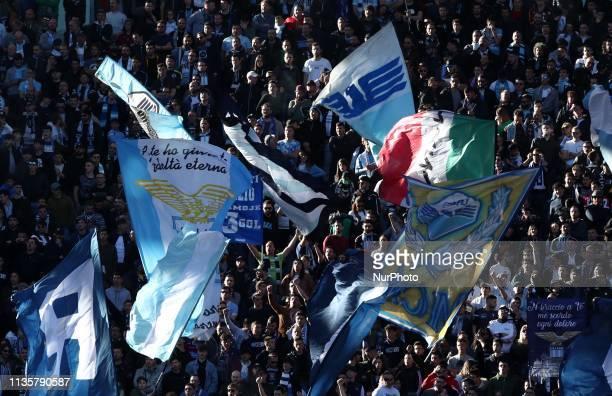 Lazio v Sassuolo Serie A Lazio ultras of Curva Nord at Olimpico Stadium in Rome Italy on April 7 2019 Photo Matteo Ciambelli / NurPhoto