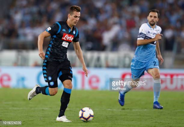 SS Lazio v SSC Napoli Serie A Arkadiusz Milik of Napoli at Olimpico Stadium in Rome Italy on August 18 2018